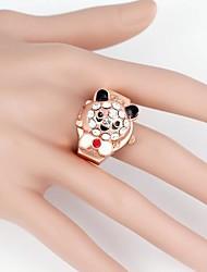 Orso sveglio del metallo di quarzo analogico dell'anello Watch (1pc)