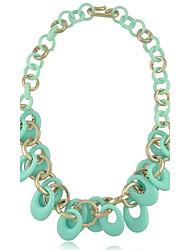 Пластиковые Объединенные Circle Ожерелья (больше цветов)