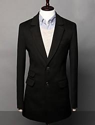 Men's Long Sleeve Long Trench coat , Tweed Pure