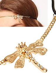 Korean Rhinestones Dragonfly Hair Band