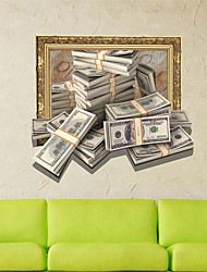 3D The Money Wall Stickers Wall Decals