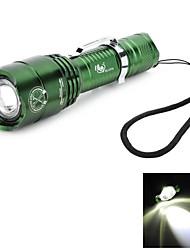Pange XM-L T6 5-Modes Rotate Zooming 700LM White 400M Range LED Flashlight (1*18650)