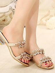 Women's Low Heel Mary Jane Slippers With Rhinestone Shoes(More Colors)