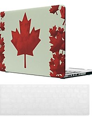 Canadian Flag Pattern PC Hard Case with Keyboard Cover Skin for MacBook Retina