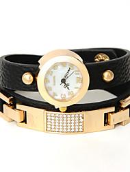 wagen u Frauen gesetzten Schnecken Niet Armband Frauen kleiden Uhren