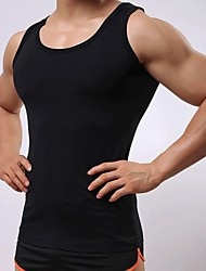 Men's Sleeveless Vest , Elastic/Microfiber Sport Pure