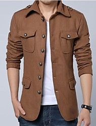Men's Fashion Korean Style Tweed Coat