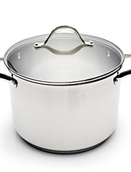 BODEUX® Series Double Grinding Dumb Smooth High Soup Pot 24cm 304 Stainless Steel Dia 25cm*18cm