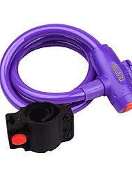 YELVQI Mountain Bike Purple Anti-Theft Wire Lock