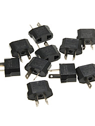KPT-18 nos Enchufe a enchufe del AU de corriente alterna adaptador de enchufe de alimentación - negro (10 unidades / 2,5 ~ 250v)