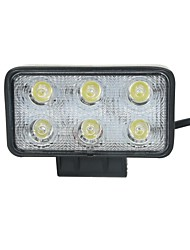 18W Spot 6000K 6-Epistar LED Double-lines Square work light Bar DIY used in Car/Boat/Auto headlight
