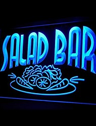 Salad Bar Food Promotion Green Blue Red White Orange Purple Yellow Advertising LED Light Sign
