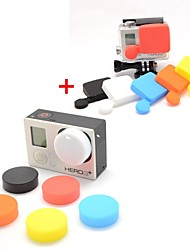 Professional Silicone Protective Lens Cap Set for GoPro Hero 3+ / Hero3 Plus