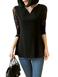 Donna All-Partita Lace Long Sleeve Blouse