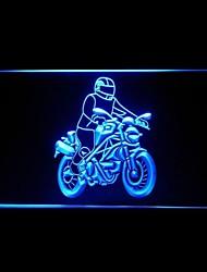 Motorcycle Bike Ride Advertising LED Light Sign
