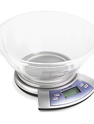 5kg/11lb LCD Screen Kitchen Digital Scale Equipped with Single High Precision Strain Gauge Sensor