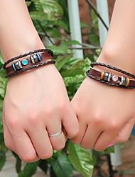 pulseiras de couro trançado de unissex (cor aleatória)