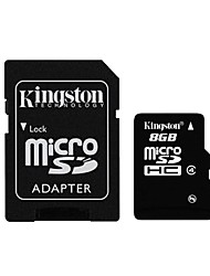 Kingston 8GB microSDHC Class 4 Flash Memory Card with SD Adapter