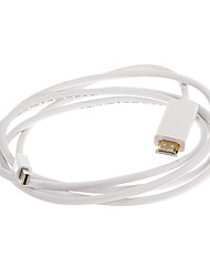 ThunderBolt macho a HDMI macho Cable de Video Blanco para MacBook (180cm)