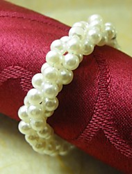 Pearl Chain Napkin Ring,Acrylic Beades, 3.5CM, Set of 12,