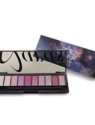Professional 10 Color Sky with Star Full Shimmer Eyeshadow Palette with Double Ended Brush 01#