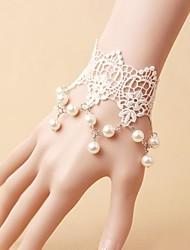 Bracelet dentelle InOne vintage perle White Pearl