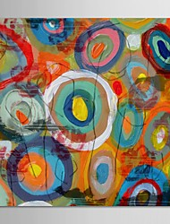 Hand Painted Oil Painting Abstract High Texture Circles with Stretched Frame
