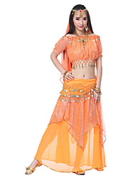 Belly Dance Outfits Women's Silk Top Length:20cm Dress Length:85cm