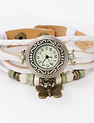 oser u authentiques montres papillon en cuir bracelet en pendentif