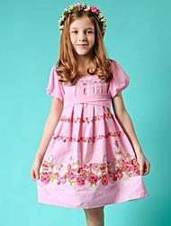 MDM Girl's Rose Pattern Dress