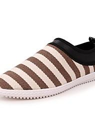 Heel Toe Hombres lona redondo plano Fashion Sneaker con zapatos sin cordones (más colores)