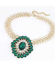 MIKI Vintage Gemstone Diamante Necklace