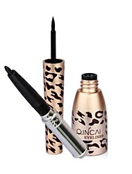 maquiagem profissional leopardo preto impermeável delineador líquido + lápis delineador 1926 #