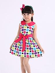 Girl's Multi-color Dress Organic Cotton Summer