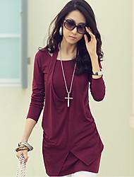 manchon de loing robe de couleur pleine de femmes SSMN