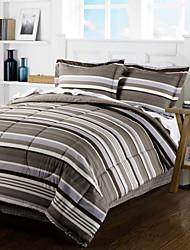 4 Piece - Luz Modern Grey Stripe Conjunto Consolador