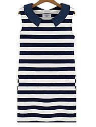 Women's Sailor Collar  Summer Code Sleeveless Ioose T-shirt Translation