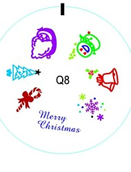 Quality Silicon Nail Art Stamping Plate Image For Merry Christmas Holiday