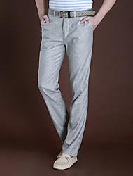 JiaoDian Fashion Long Leisure Solid Color Straight Pants(Random Accessories)-21