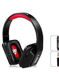 Vykon MQ77 Superbe 3,5 mm casque supra-auriculaire avec microphone et 1,2 m de câble (noir et rouge)