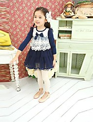 Girl Fashion Casual Bowknot Hollow Out Vestido bomba