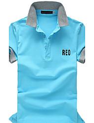 beman Männer Allgleiches einfarbig Kurzarm-Polo-Shirt
