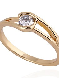 Women's New Fashion 18K Gold Plated  Shape classic Design Zircon Ring J27011