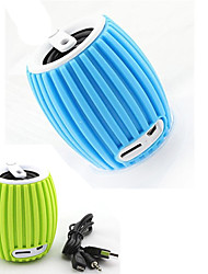 Q8 Grenade Style Portable Bluetooth v3.0 + EDR 2-CH Speaker with Microphone / TF - Blue /Green