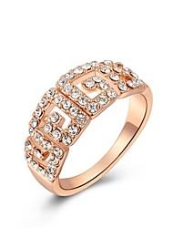Women Classic Luxury Rings Genuine SWR Crystal Handmade