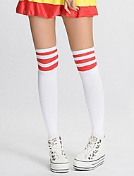 Socks/Stockings Sweet Lolita / Classic/Traditional Lolita Lolita Lolita Red / White Lolita Accessories Stockings Print / Striped For Women