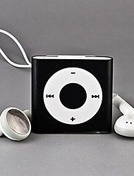 Square No-screen Clip-on MP3 Player Supports up to 8G TF card