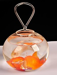 Table Centerpieces Transparent Glass Fish Tank  Table Deocrations (Fish Not Included)