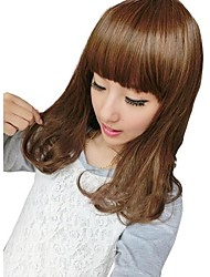 Women Curly Hair Synthetic Full Bang Wigs