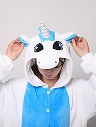 Kigurumi Pijamas Unicórnio Malha Collant/Pijama Macacão / Chinelos Festival/Celebração Pijamas Animal Azul Miscelânea Velocino de Coral